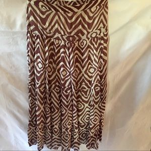 SOFT SURROUNDINGS  Brown&cream maxi skirt SZ:LARGE